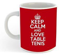 Keep Calm And Love Table Tenis  Mug - Red