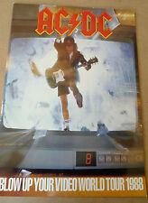 """AC/DC 12"""" x 16"""" Official Vintage Blow Up Your Video 1988 Tour Programme"""