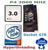 3.0 GHz SOCKET 478 CPU PENTIUM 4 Hyper-Threading 3000MHz/512K/800 NORTHWOOD CORE