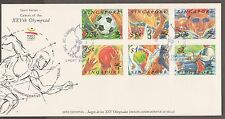 S'pore FDC XXV Olympic Games 24.4.1992