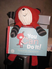 "HALLMARK~THERE FOR YOU CREW~RED FOX PLUSH plus a BOOK ""You Can Do It"" ~NEW~"
