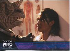 Doctor Who Timeless Blue Parallel [##/99] Base Card #55 Smith and Jones
