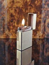 Vintage ST DUPONT Line Ligne 1 Gold Plated Butane Lighter,Original Box