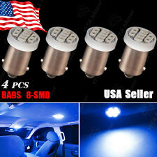 4X Ultra Blue BA9S 8SMD LED Interior Instrument Panel Light Bulb Car 1815 1895