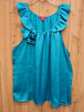SUNNY LEIGH Fancy Tank Sleeveless Cool BLUE Turquoise SIZE XL