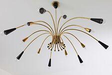 Chandelier Brass 1950 Lüster Messing um 1950 Midcentury 50er XXL / 14 - flammig