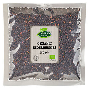 Organic Elderberries 250g Certified Organic