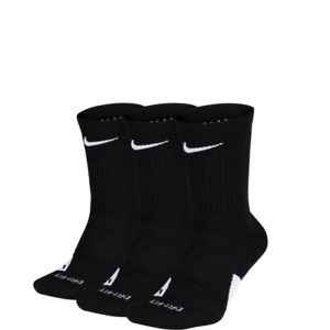 Nike Elite Crew 3 Pack Socks Black Men's Dri-Fit Sport Training Socks SX7627-010