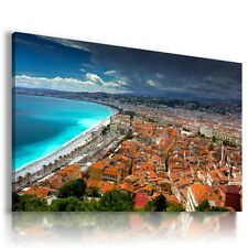 FRANCE NICE SEA View Canvas Wall Art Picture L36 MATAGA .