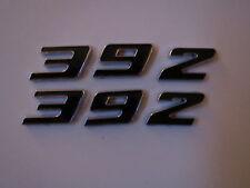 DODGE CHALLENGER VIPER RAM 392 SLANTED HOOD SCOOP FENDER EMBLEMS - BLACK