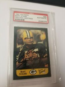 """Bart Starr Green Bay Packers 1991 PSA/DNA Autograph """"TO RANDY"""""""