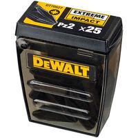 DeWALT Pozi bits Pz2 (25 in a box) DT70527 EXTREME IMPACT Screw Driver Bits