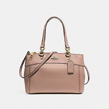 New Coach F25395 MINI BROOKE Carryall Satchel Handbag Purse Shoulder Bag Nude