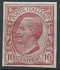 1906 REGNO EFFIGIE 10 CENT VARIETà NON DENTELLATO MNH ** - T221