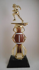 FOOTBALL TROPHY W/ COLORED FOOTBALL RISER FANTASY FOOTBALL AWARD FREE ENGRAVING!