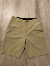 Volcom Mens Flat Front Surf and Turf 4 Way Stretch Hybrid Shorts Beige Tan 31