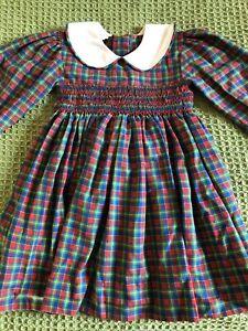 Romany Smock Traditional Peterpan Collar Dress Age 2