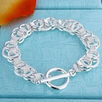 ASAMO Damen Armband Ringe 925 Sterling Silber plattiert A1040