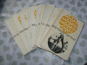 Full season of Wolves 1967-68 home programmes - 21 programmes in all