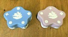 Vintage Wedgwood Jasperware Star Shaped Trinket Boxes - Two Colors!