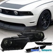 2010-2014 Ford Mustang Diamond Smoke Headlight+Bumper Signal Lights Black