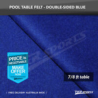 Blue Double-sided Wool Pool Snooker Table Top Cloth Felt for 7''/8''