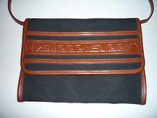 YSL Yves Saint Laurent Vintage Tribal Clutch Convertible Purse Bag Greek Key WOW