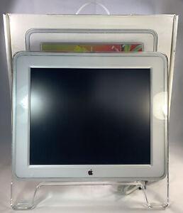 "Apple Monitor M7649 17"" Inch Studio Display Flat LCD Vintage White Clear W Box"