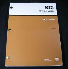 Case 1818 Uni Loader Skid Steer Tractor Parts Manual Book Catalog Uniloader