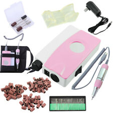 Portable Electric Nail Drill Machine Manicure Kits Nail File Drill Bits Sanding