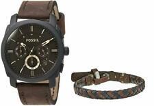 Fossil FS5251SET Men's Machine Watch and Bracelet Set - Brown