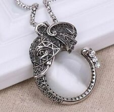 Charm Elegant Fashion Elephants Pendant Sweater Chain Retro Silver Necklace New