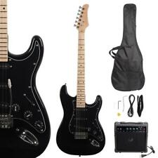 New Beginner Black Electric Guitar Kit with Amp & Accessories