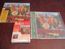 BEATLES SGT PEPPER'S RARE 2003 TOSHIBA/EMI JAPAN OBI LP+ 2 LP'S & RARE CD/T BOX