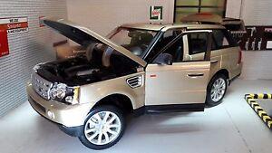 Land Range Rover Sport TDV6 LR3 Gold Detailed Diecast Model 1:18 Maisto Burago