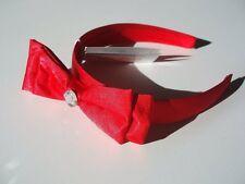 Gymboree FRIENDSHIP CAMP Satiny Red Bow Hair/Headband ~ NWT!