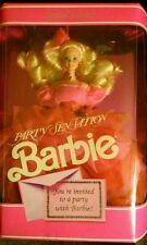 Party Sensation Barbie1990 Blond w/ Hot Pink Gown NRFB Collectible Barbie #9025
