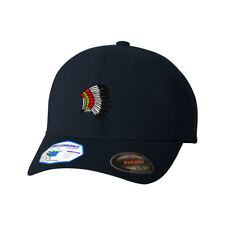 Indian Chef Feather Headdress Flexfit® Pro-Formance® Embroidered Cap Hat