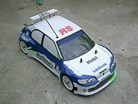 Carrozzeria body RC scala 1/10  Peugeot 306 RACING RALLY-TOURING + adesivi