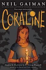 Coraline Graphic Novel by Neil Gaiman (2009, Paperback)