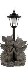 """Gartenfigur Gartendrachen """"Loving Dragons"""" mit Solarlampe Drache"""