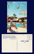 US NEVADA LAS VEGAS WILBUR CLARK'S DESERT INN HIGH DIVER FERRIS SCOTT CIRCA 1955