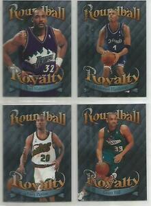 Roundball Royalty 1998-99 Topps Lot of 4 -All Unpeeled and NBA Stars