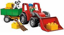 Lego Duplo großer Traktor 5647 Big Tractor rot Anhänger Trecker für Bauernhof