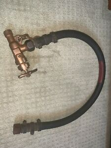 Air Control Valve and Whip for Diving Helmet