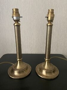 BHS  X2 Table / Bedside Metal Gold Rustic Look Lamps ~ Home Lighting