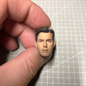 "Painted 1/12 Ben Affleck Batman Bruce Wayne Head Sculpt for 6"" Figure SHF ML Mez"