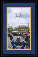 "David Perron Blues Framed Signed 10"" x 18"" Championship Parade Photo - LE 19"