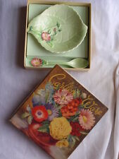ANTIQUE DECO CARLTON WARE AUSTRALIAN DESIGN PRESERVE DISH & SPOON ORIGINAL BOX