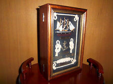 Cabinet Wall  Nautical Wood Door Hide-a-key Safe Holder Wooden Shadow Box Anchor
